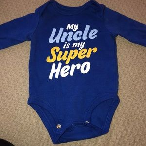 Uncle long sleeve onesie 3 mos